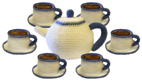 Crochet Pattern - Cabled Tea Cozy Set - Lullabies and Lace