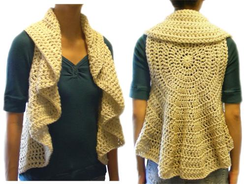 Crochet Spot Blog Archive Crochet Pattern Circular Vest 9