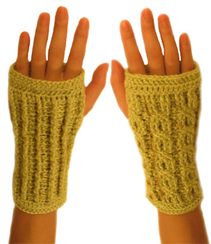 KnittingPony: Cabled Wrist Warmers (Free Knitting Pattern)