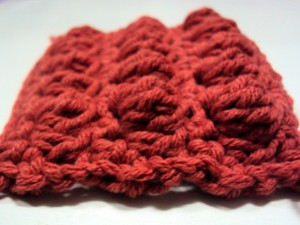 bobble stitch swatch 2