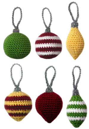 New Pattern Monday: Knit and Crochet Christmas Ornaments