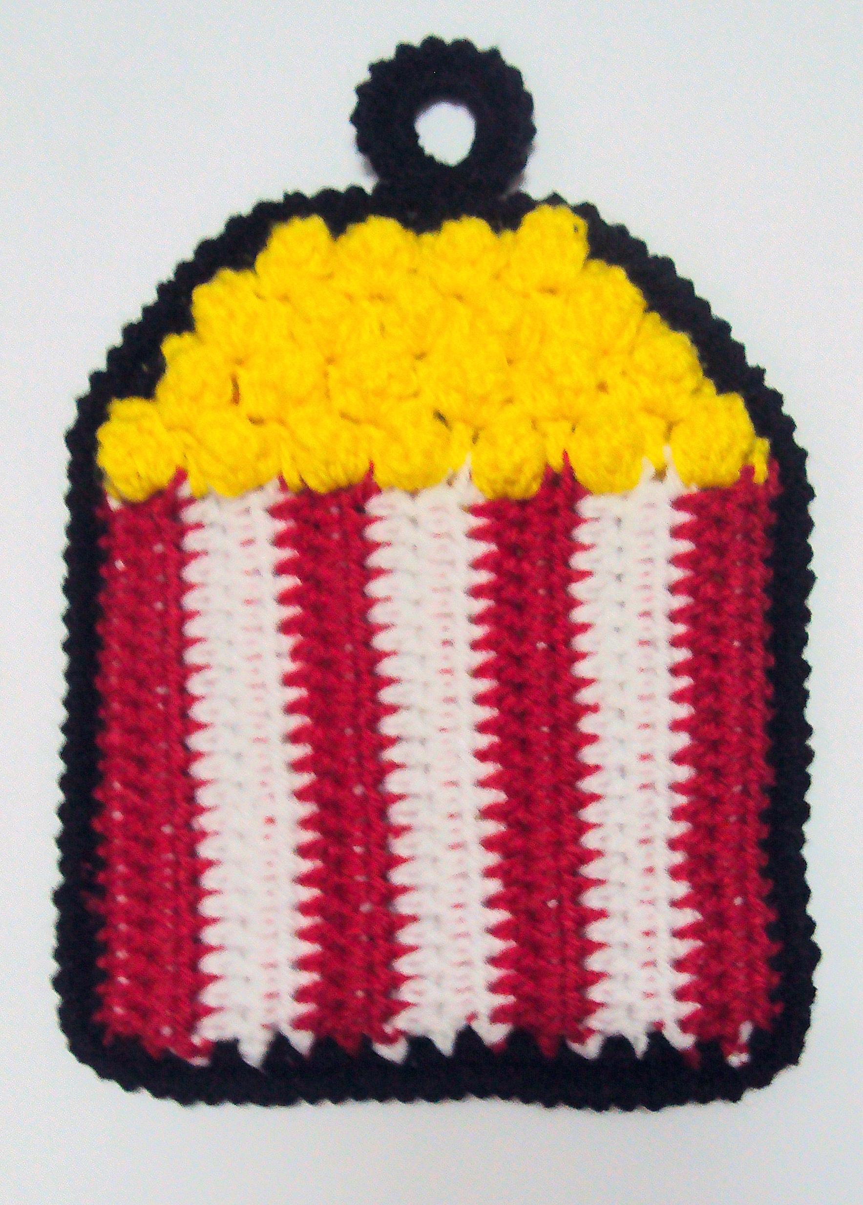 Crochet Spot » Blog Archive » Crochet Pattern: Popcorn Potholder ...