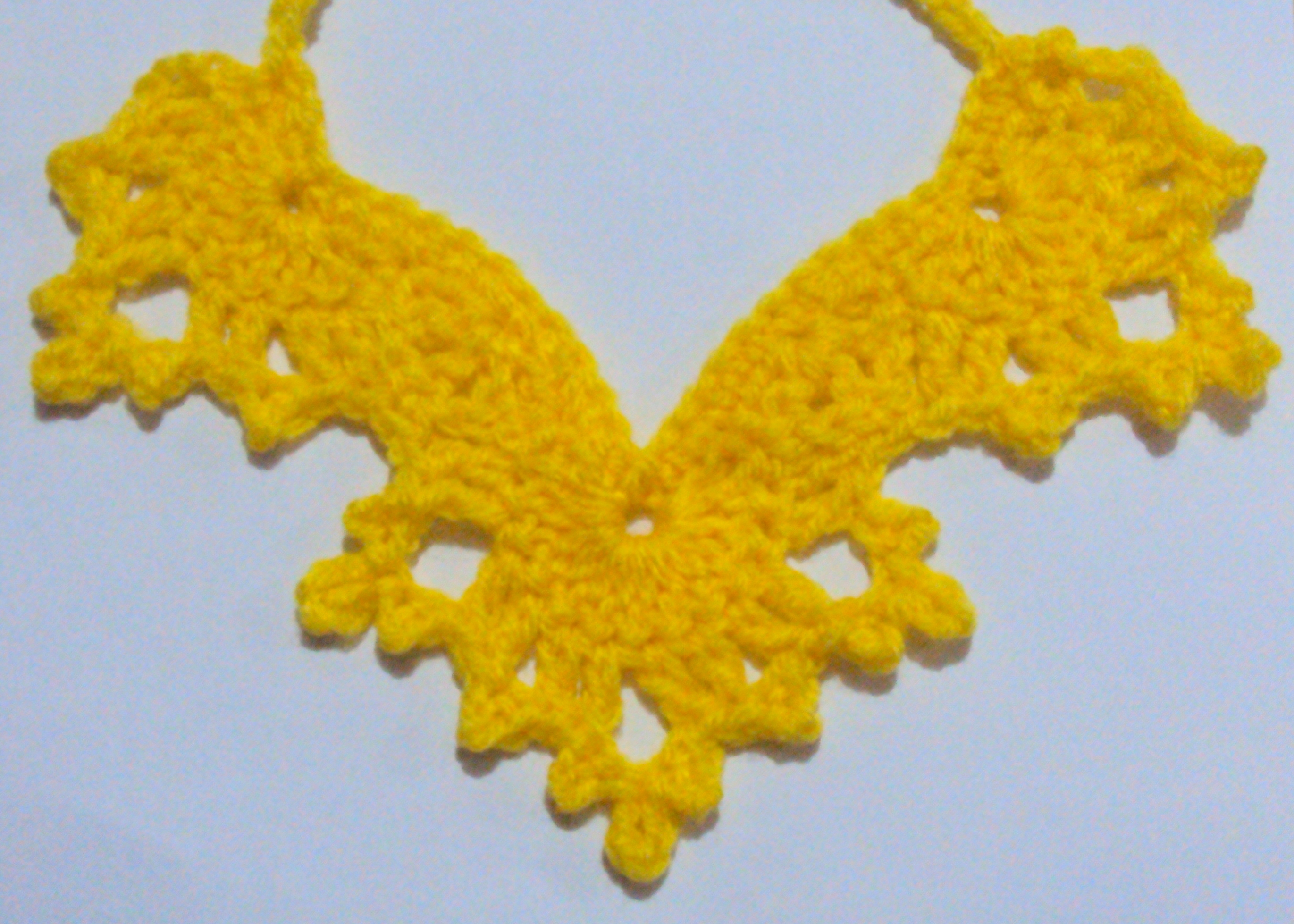 Free Ruffled Necklace Crochet Pattern - Orble