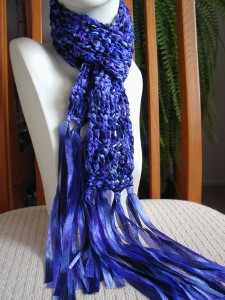 Crochet Patterns Ribbon Yarn : CROCHET SCARF PATTERN RIBBON YARN Crochet Patterns Only