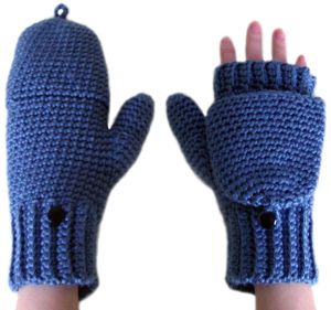 CONVERTIBLE CROCHET FREE MITTENS PATTERN | Subtle Patterns