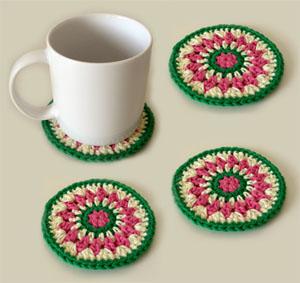 Crochet spot blog archive crochet pattern kaleido coasters skill level crochet dt1010fo