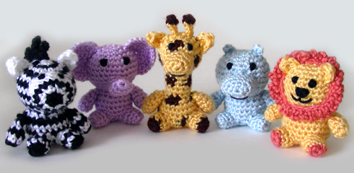 Crochet Patterns Animals Free : Free Crochet Animal Applique Patterns