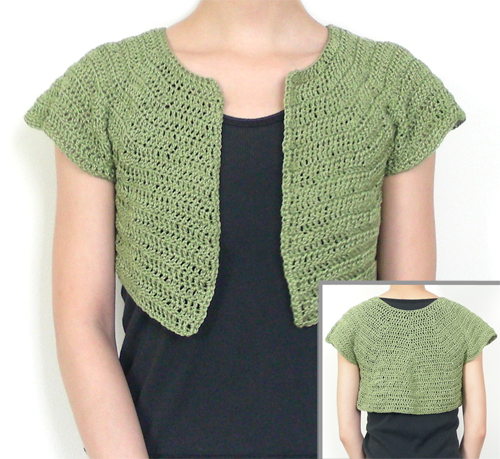 Crochet Bolero Pattern : ... Crochet Pattern: Classic Bolero - 9 Sizes - Crochet Patterns