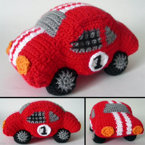 Crochet Spot Blog Archive Crochet Pattern Rambunctious Race Car