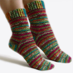 Free Knit  Crochet Sock Pattern - free on-line knitting patterns