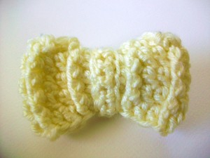 Crochet Ridged Hair Bow