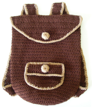 Crochet Backpack Bag Pattern : ... Crochet Pattern: Everyday Backpack - Crochet Patterns, Tutorials and