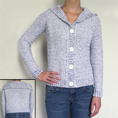 Free Crochet Pattern Hooded Sweater : Crochet Pattern Hooded Sweater Free Patterns For Crochet