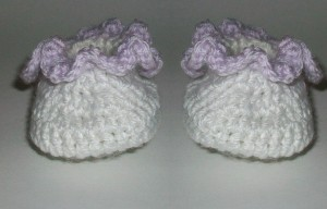 Crochet Frilly Baby Booties