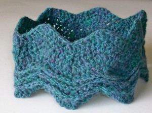 Crochet Ridged Chevron Neckwarmer