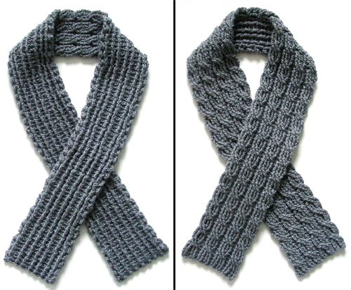 Crochet Pattern Reversible Cable Scarf  Crochet Patterns Tutorials Crochet Scarves For Men Free Patterns