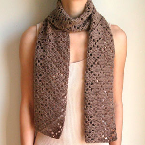 Crochet Spot Blog Archive Crochet Pattern Diamond Eyelet Scarf