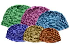 Crochet Patterns Light Weight Yarn : ... Crochet Pattern: Light Family Beanie Set (6 Sizes) - Crochet Patterns