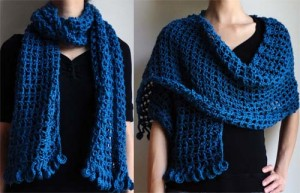 crochet lover's knot wrap