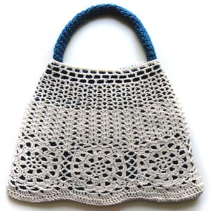 Free Knitting Pattern knitorcrochet1 Wooden Handle Tote