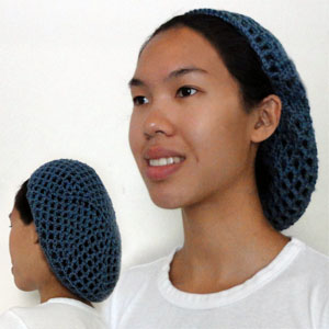 Crochet Pattern: Netted Hair Snood - Crochet Spot   Blog