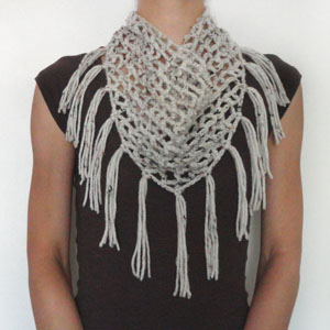 Free Crochet Pattern Fringed Cowl : Crochet Spot Blog Archive Crochet Pattern: Triangular ...
