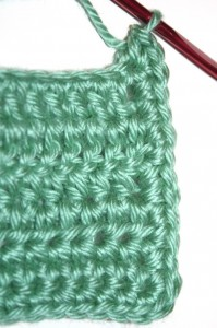 Crocheted side edge