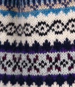 Sample of Fair Isle Knitting