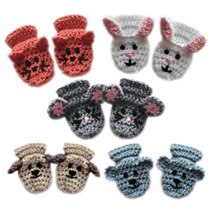 ABC Knitting Patterns - Crochet >> Mittens and Gloves.