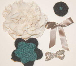 A small variety of embellishments