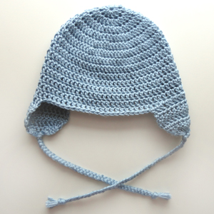 Crochet Pattern For Newborn Hat With Ear Flaps : Gallery For > Crochet Hats With Ear Flaps Free Patterns