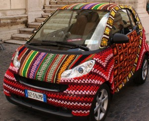 Crocheted Car Cover