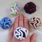 crochet crazy ruffle rings