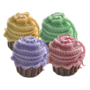 crochet cupcake drawstring bag