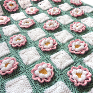 crochet pop up flower blanket