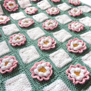 crochet pop up flower blanket