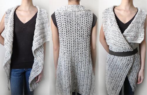 Crochet Spot Blog Archive Crochet Pattern Rectangular Vest 9