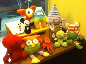 This is a picture of all of our amigurumi creations together!