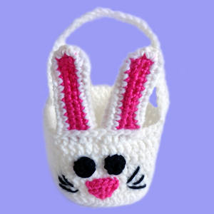 crochet bunny rabbit basket