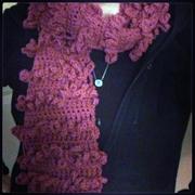 crochet loopy ruffle scarf
