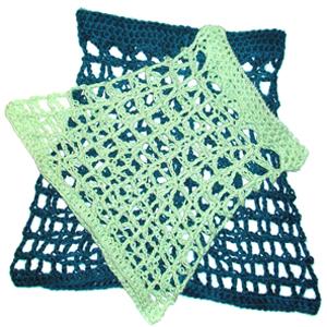crochet mesh overskirt