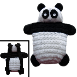 crochet panda bear backpack