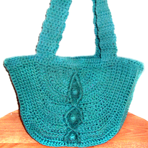 crochet cable bobble bag