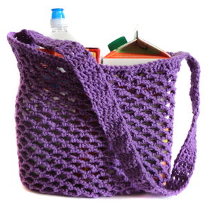 crochet mesh market bag