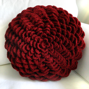 crochet round flower pillow cover