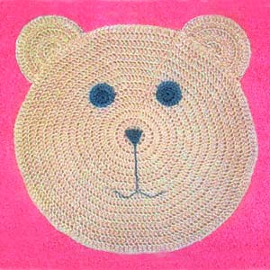 crochet teddy bear rug