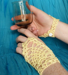 Sunshiny Fingerless Gloves