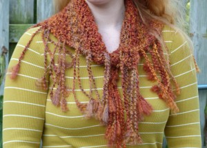 Nearly Autumn Shawl Front