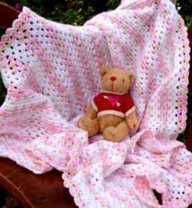 crochet candy colors baby blanket