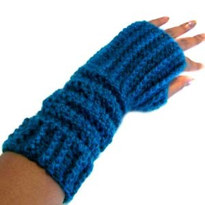 crochet slouchable fingerless gloves
